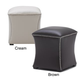 Sunpan Bellair Leather Ottoman