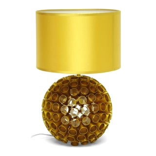 Medill Metallic Gold Modern Table Lamp