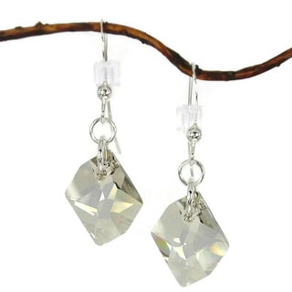 Silver Shade Cosmic Crystal Sterling Silver Earrings