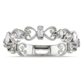 Miadora 18k White Gold 1/4ct TDW Diamond Ring (G-H, SI1-SI2)