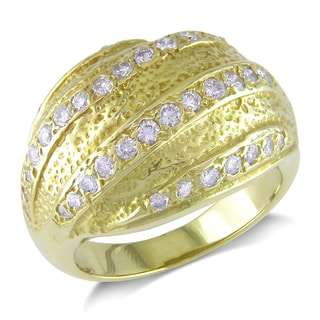 18k Yellow Gold 7/8ct TDW Diamond Ring (G-H, I1-I2)