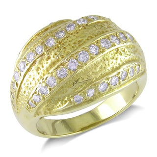 Miadora 18k Yellow Gold 7/8ct TDW Diamond Ring (G-H, I1-I2)
