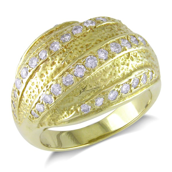 Miadora Signature Collection 18k Yellow Gold 7/8ct TDW Diamond Ring (G-H, I1-I2)