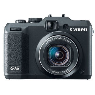 Canon PowerShot G15 12.1MP Black Digital Camera