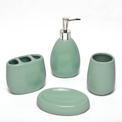 Waverly Aqua Ceramic 4-piece Bath Set