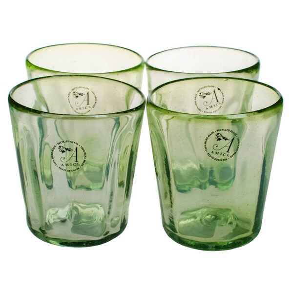 Luster Green Glasses (Set of 4)