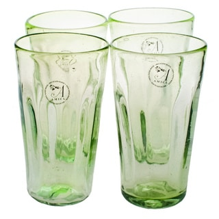 Luster Green Hiball Glass (Set of 4)