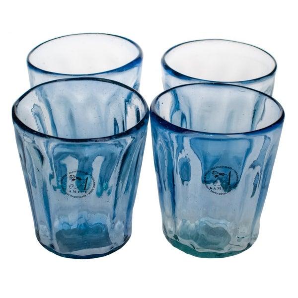 Luster Blue Glasses (Set of 4)
