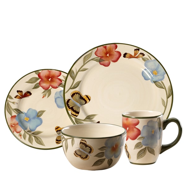 Pfaltzgraff Everyday Garden Butterflies 16-piece Dinnerware Set