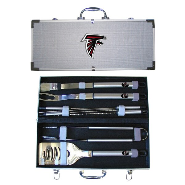 NFL 8-piece Stainless Steel Barbecue Set with Aluminum Case
