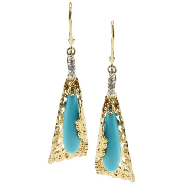 Michael Valitutti Two-tone Turquoise Earrings