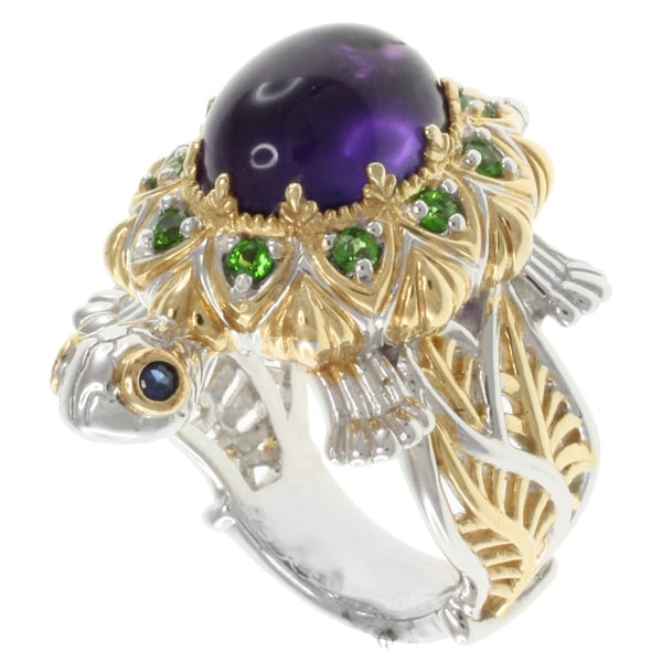 Michael Valitutti Two-tone Amethyst Turtle Ring