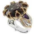 Michael Valitutti Two-tone Smokey Quartz Ring