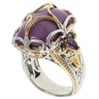 Michael Valitutti Two-tone Silver Phosphosiderite Ring