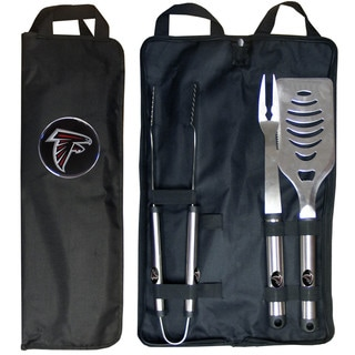 NFL 3-piece Stainless Steel Barbecue Set with Canvas Case