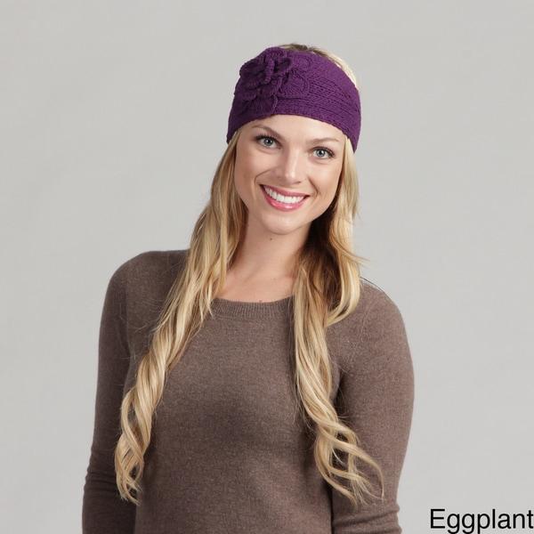 Women's Knit Flower Detail Headband