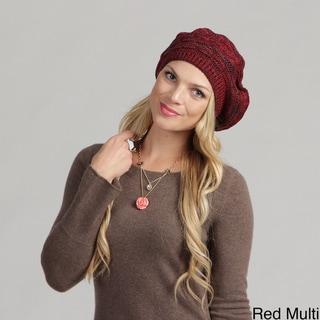 Women's Knit Beret Pom Pom Hat