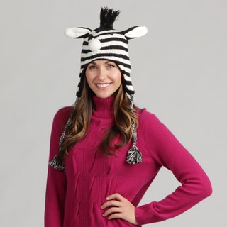David and Young Women's Zebra Face Animal Beanie