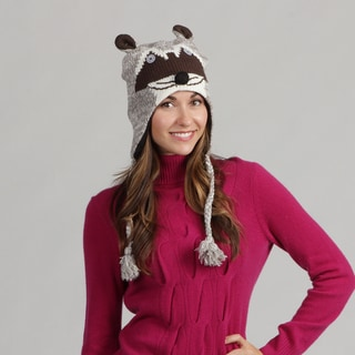 David and Young Women's Raccoon Face Beanie