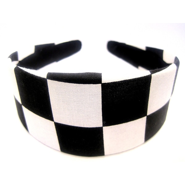 Crawford Corner Shop Black White Checkered Headband