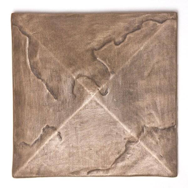 Metallicos Egyptian Damieta Bronze 4-inch x 4-inch Decorative Tiles (Set of 4)