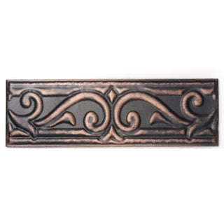 Metallicos Egyptian Memphis Antique Copper 3-inch x 9.5-inch Decorative Tiles (Set of 3)