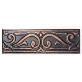 Metallicos Egyptian Memphis Antique Copper 3-inch x 9.5-inch Decorative Tiles (Set of 3)