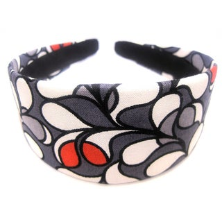 Crawford Corner Shop Gray White and Red Headband