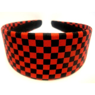 Crawford Corner Shop Red Black Checkered Headband