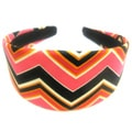 Crawford Corner Shop Black Pink Zig Zag Headband