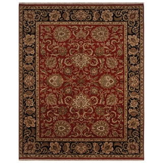 Hand-knotted Oriental Red Wool Area Rug (10' x 14')