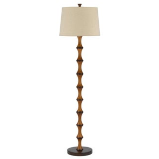 Cal Lighting Beige Shade Faux Bamboo Lamp