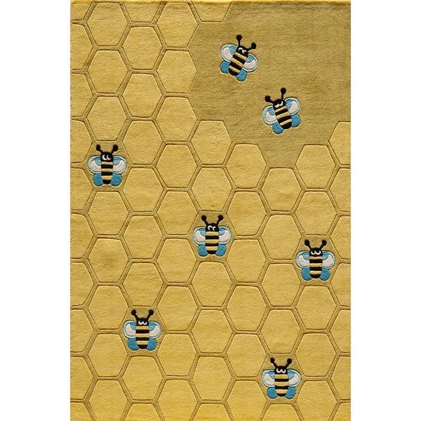 Momeni 'Lil Mo Honeycomb Gold Rug (2' x 3')