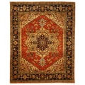 Hand-knotted Serapi Red Wool Runner Rug (2'6 x 20')