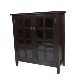 Stratford Espresso Brown Medium Storage Media Cabinet & Buffet