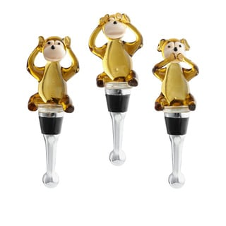 Red Vanilla 'Hear No, See No, Speak No Evil' Wine Bottle Stoppers (Set of 3)