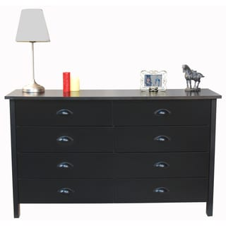 Venture Horizon 'Nouvelle' Black Finish 8-drawer Lowboy Dresser