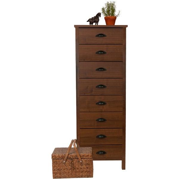 Venture Horizon 'Nouvelle' Walnut Finish 8-drawer Lingerie Bureau Dresser