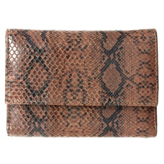 Brandio Women's Brown Snake Print Leather Wallet