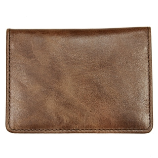 YL Brown Leather Credit Card Holder Wallet