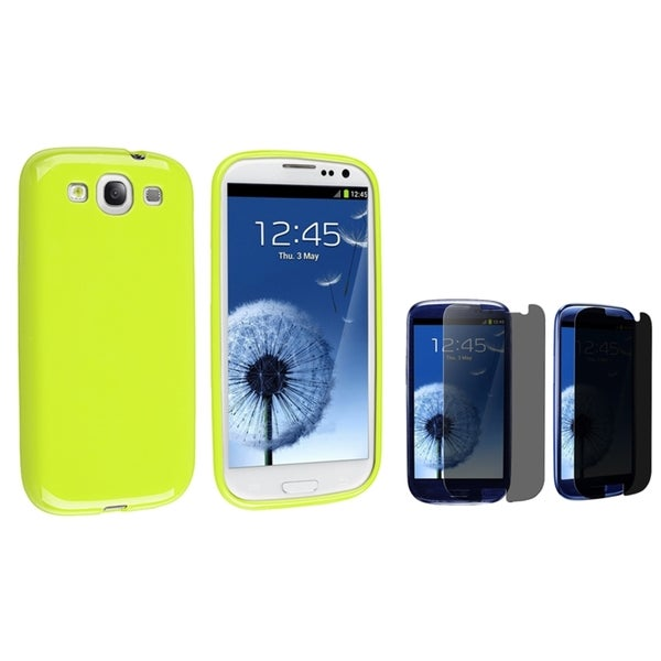 BasAcc TPU Case/ Privacy LCD Protector for Samsung Galaxy S3/ S III