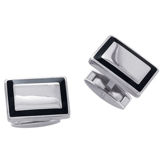 Titanium Men's Carbon Inlay Edge Cuff Links