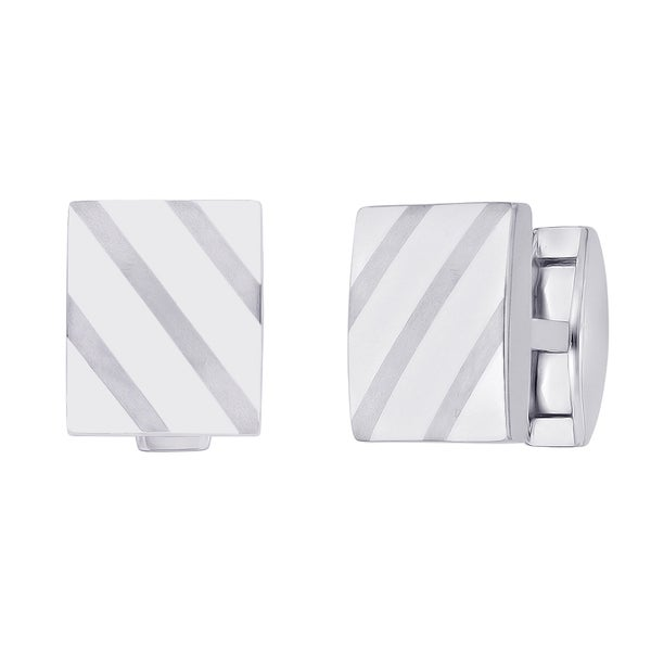 Titanium Men's Square-shaped Cuff Links