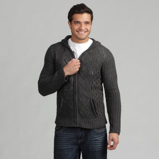 191 Unlimited Mens Cable Knit Sweater