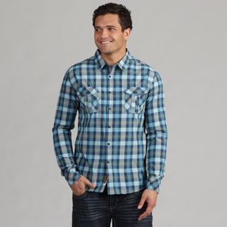 191 Unlimited Men's Turquoise Woven Shirt