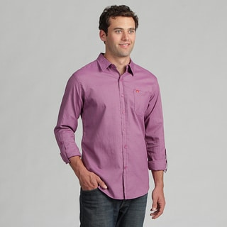 191 Unlimited Men's Purple Long-sleeve Woven Shirt