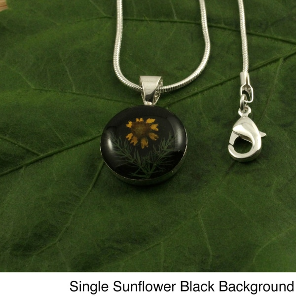 Silverplated Sunflower Pendant (Mexico)