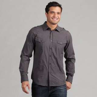 191 Unlimited Men's Charcoal Heavy Stitch Shirt