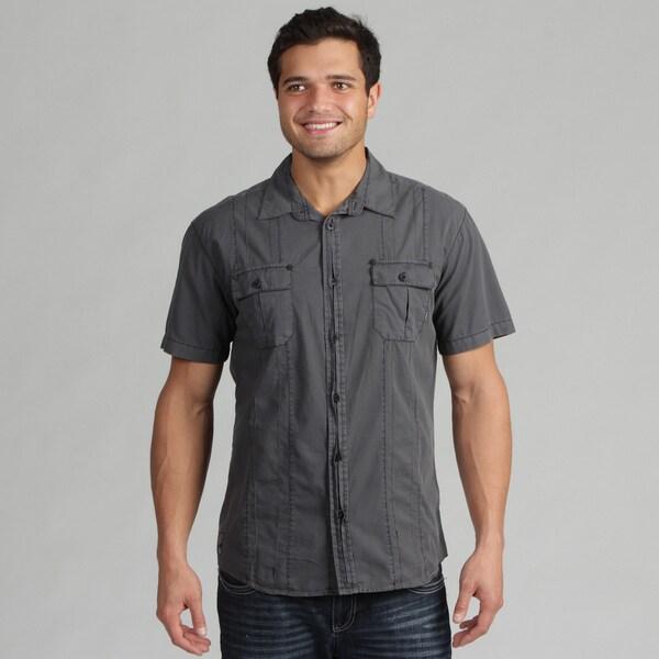 191 Unlimited Men's Charcoal Woven Shirt