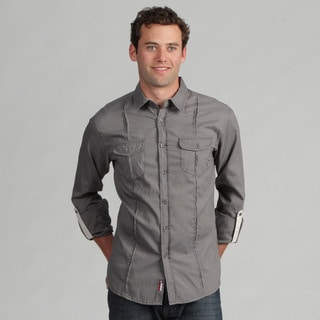 191 Unlimited Mens Charcoal Woven Shirt